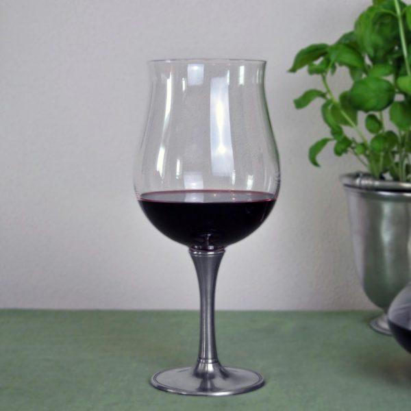Degustationsglas für Wein aus Zinn und Kristall (731)