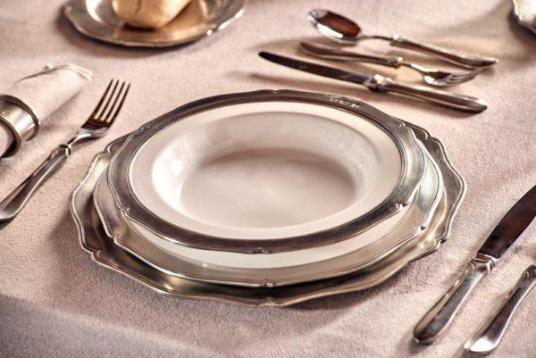 Tiefer Teller Keramik Zinn 95% (791)