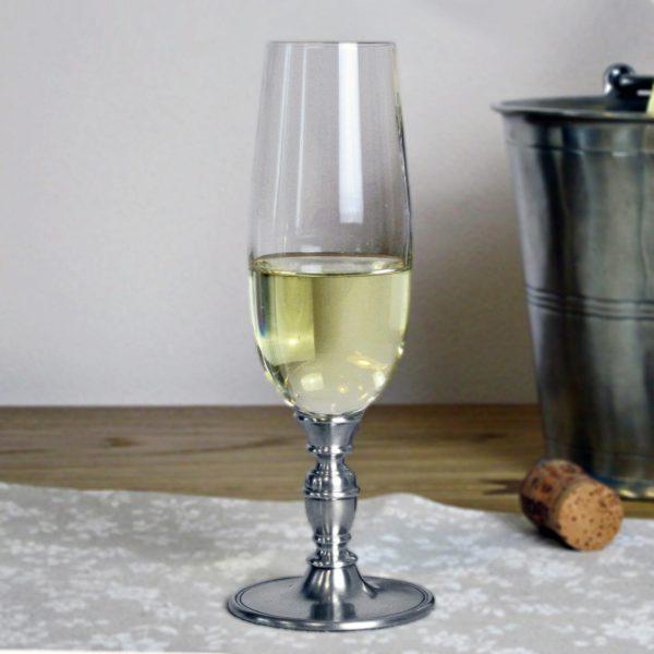 Champagner Flöte Kristall Zinn - Champagnerglas Kristall Zinn (814)