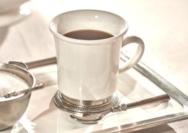 Tasse aus Keramik und Zinn - Becher aus Keramik und Zinn (853)