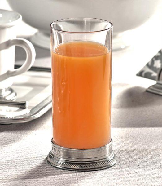 Long Drink Glas Kristall Zinn (857)