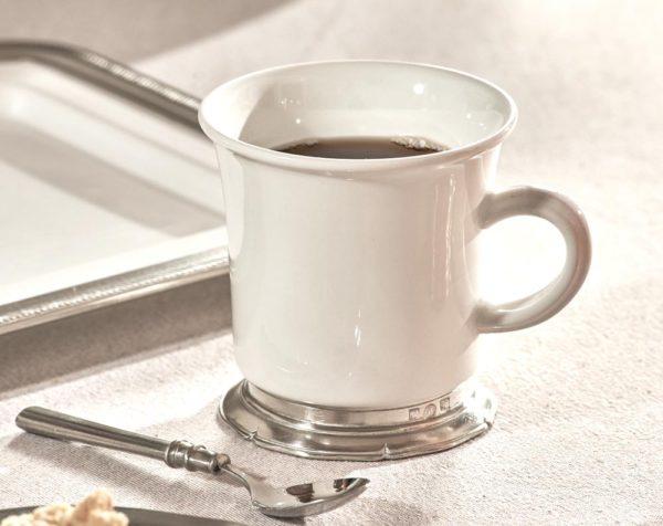 Tasse aus Keramik und Zinn - Becher aus Keramik und Zinn (872)