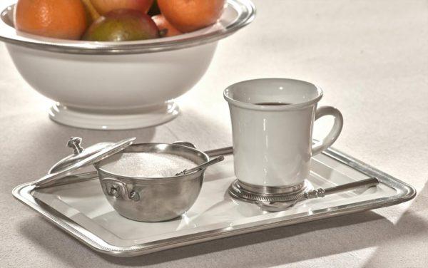 Tablett aus Keramik und Zinn (876)