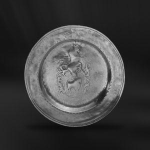 Zinnteller - Antik Teller aus Zinn (Art.112)