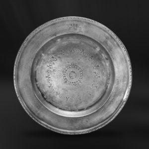 Zinnteller - Antik Teller aus Zinn (Art.209)