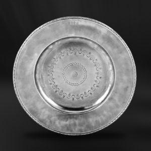 Zinnteller - Antik Teller aus Zinn (Art.641)