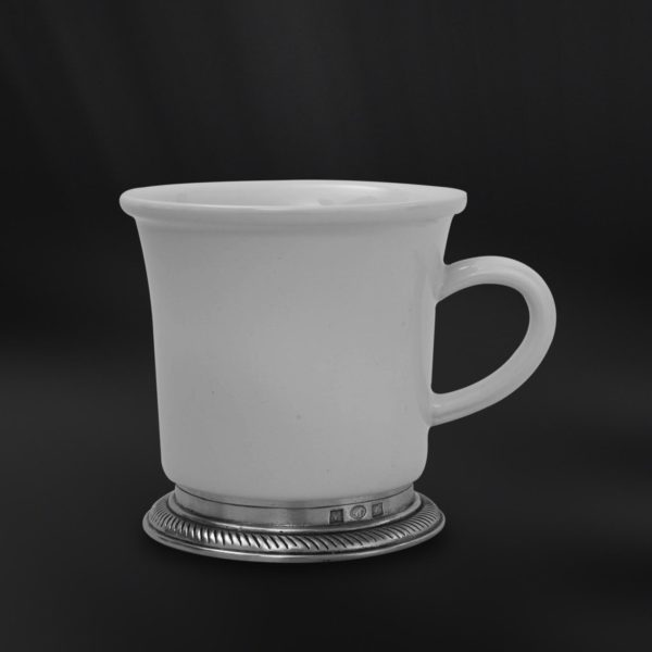 Becher aus Keramik und Zinn - Tasse Keramik und Zinn (Art.853)