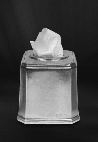 Behälter aus Zinn für Kosmetiktücher - Badaccessoire aus Zinn (Art.804)