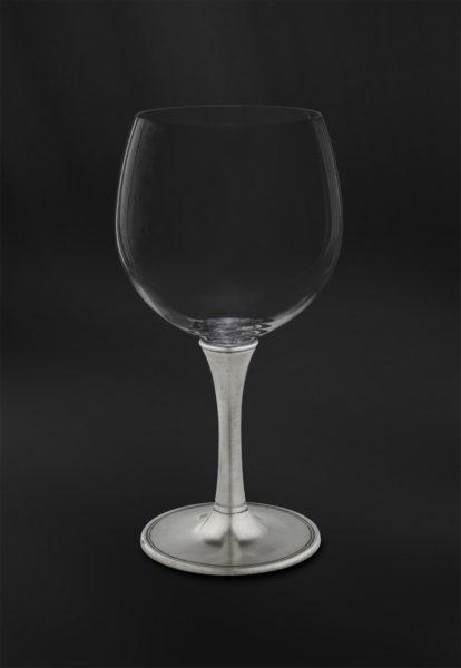 Degustationsglas für Wein aus Kristallglas und Zinn (Art.729)