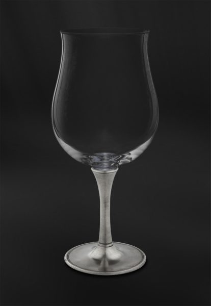 Degustationsglas für Wein aus Kristallglas und Zinn (Art.731)
