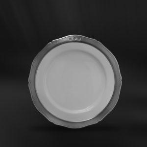 Dessertteller aus Keramik und Zinn (Art.792)