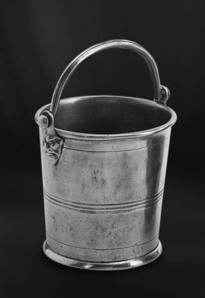 Eiskübel aus Zinn - Zinnkübel für Eis - Kübel aus Zinn (Art.316)