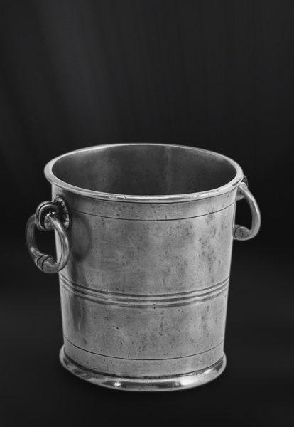Eiskübel aus Zinn - Zinnkübel für Eis - Kübel aus Zinn (Art.317)