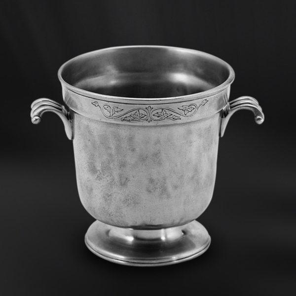 Eiskübel aus Zinn - Zinnkübel für Eis - Kübel aus Zinn (Art.445)