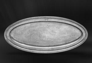 Fischtablett aus Zinn - Ovales Tablett aus Zinn - Zinntablett (Art.436)