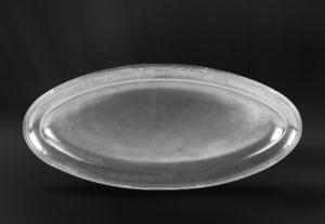Fischtablett aus Zinn - Ovales Tablett aus Zinn - Zinntablett (Art.787)