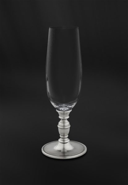 Flöte aus Kristallglas und Zinn (Art.814)