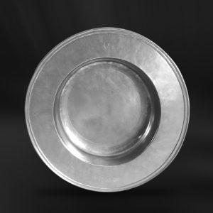 Großer und Tiefer Zinnteller - Großer und Tiefer Teller aus Zinn (Art.692)