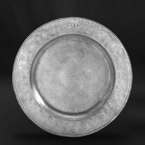 Großer Zinnteller - Großer Teller aus Zinn (Art.276)