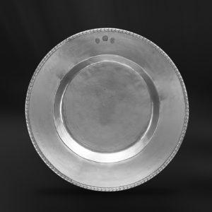 Großer Zinnteller - Großer Teller aus Zinn (Art.691)