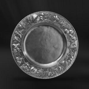 Großer Zinnteller - Großer Teller aus Zinn (Art.777)