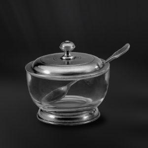 Käsedose aus Kristallglas und Zinn (Art.548)