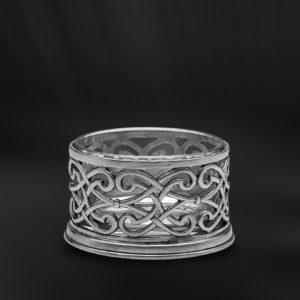 Käsedose aus Kristallglas und Zinn (Art.591)