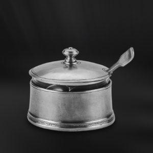 Käsedose aus Kristallglas und Zinn (Art.646)