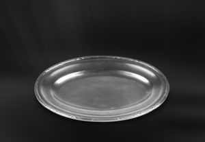 Kleines Ovales Tablett aus Zinn - Kleines Ovales Zinntablett (Art.794)