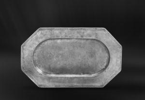 Kleines Achteckiges Tablett aus Zinn - Kleines Achteckiges Zinntablett (Art.285)