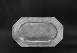 Kleines Achteckiges Tablett aus Zinn - Kleines Achteckiges Zinntablett (Art.286)
