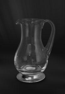 Krug aus Zinn und Kristallglas (Art.737)