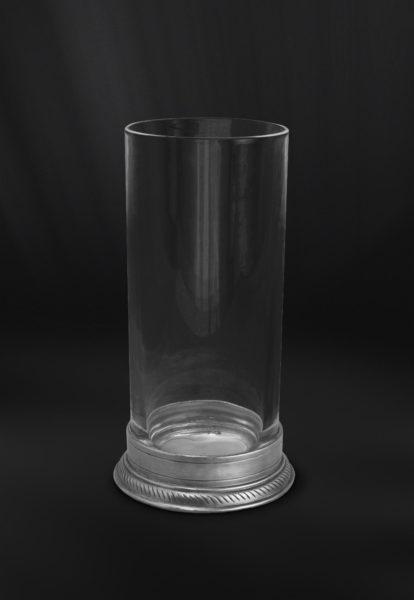 Long Drink Glas aus Kristall und Zinn - Longdrinkglas Kristall Zinn (Art.857)