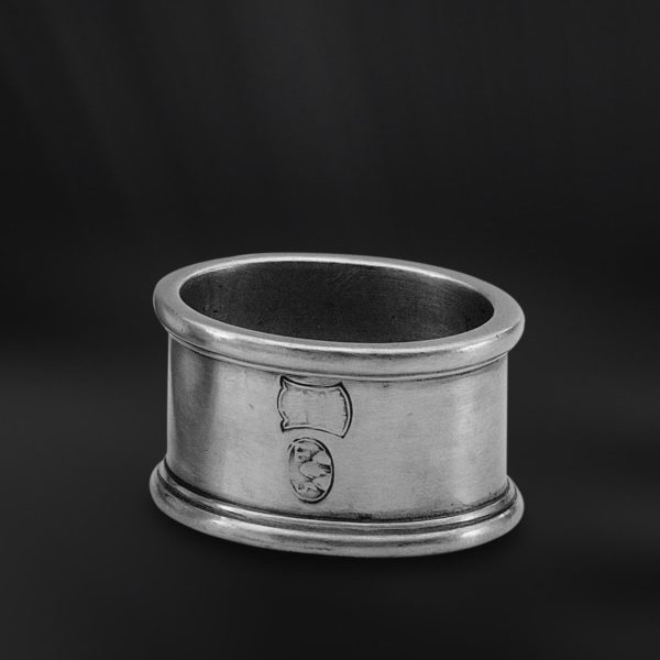 Ovaler Serviettenring aus Zinn (Art.552)