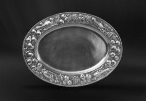 Ovales Tablett aus Zinn - Ovales Zinntablett (Art.524)