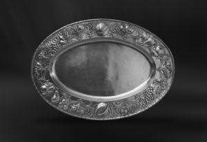Ovales Tablett aus Zinn - Ovales Zinntablett (Art.778)