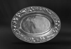 Ovaler Tafelaufsatz aus Zinn (Art.523)