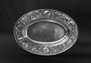 Ovaler Tafelaufsatz aus Zinn (Art.783)