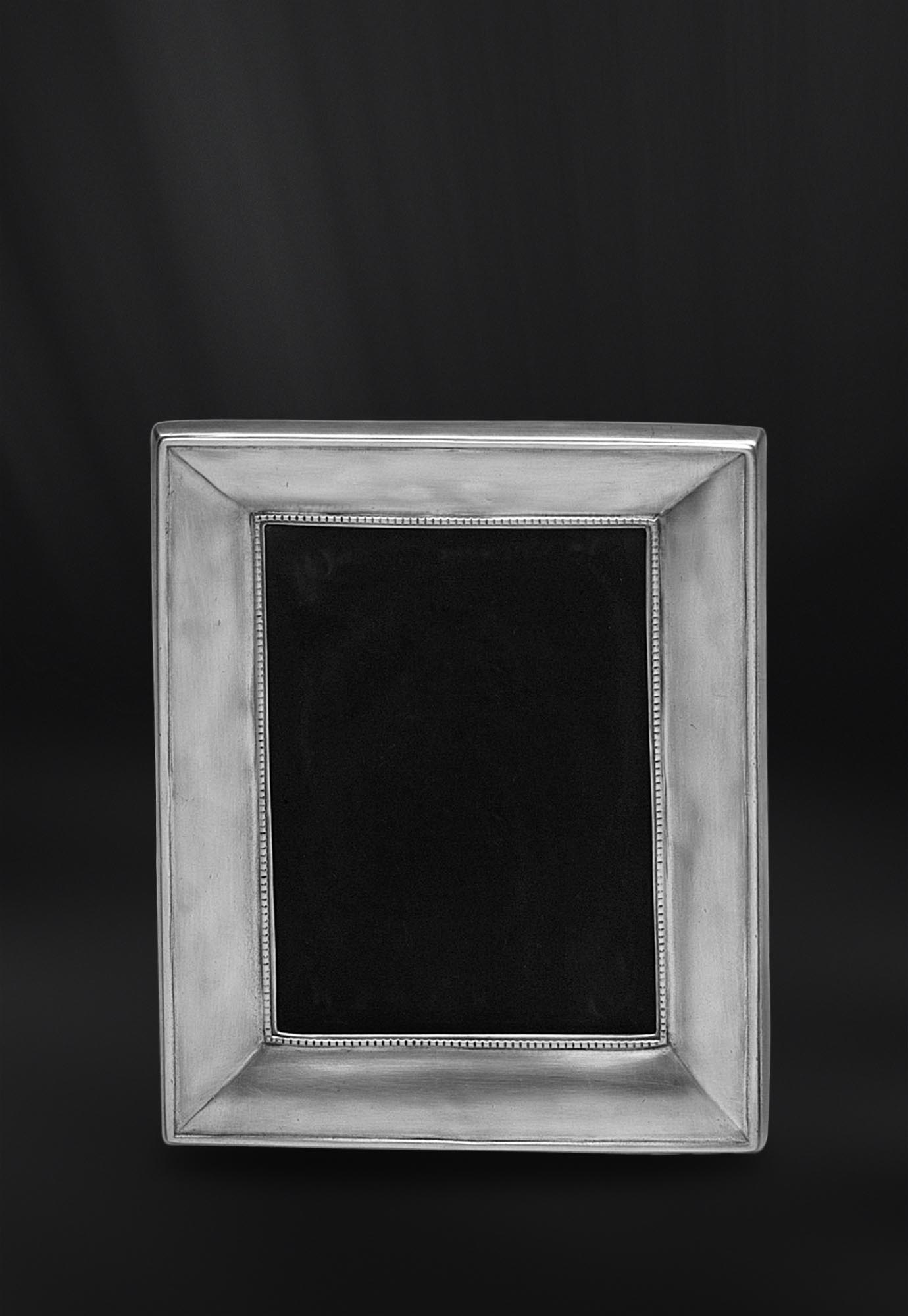 Rechteckiger Bilderrahmen aus Zinn 10x15 - La Bottega del Peltro