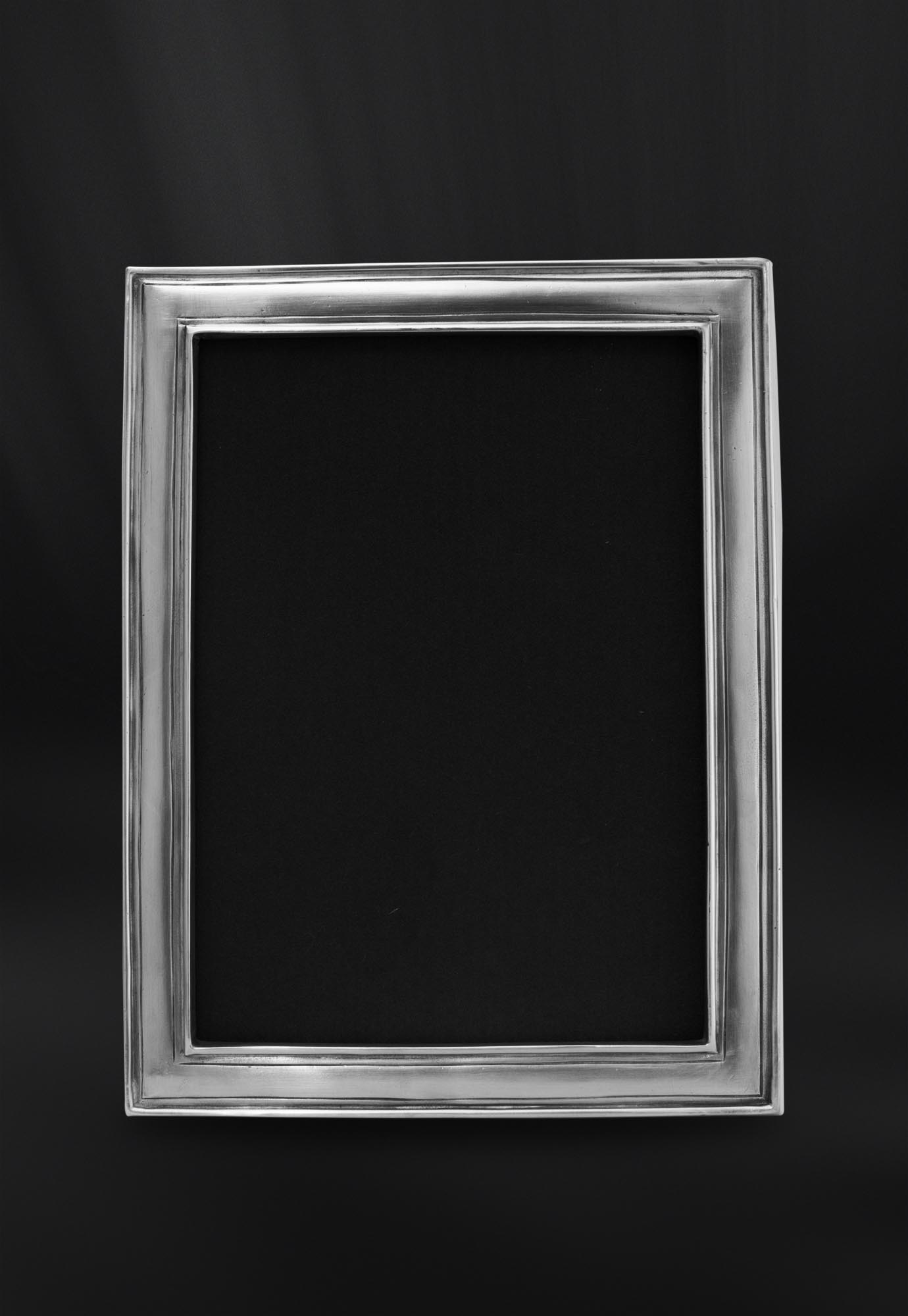 Rechteckiger Bilderrahmen aus Zinn 18x24 - La Bottega del Peltro