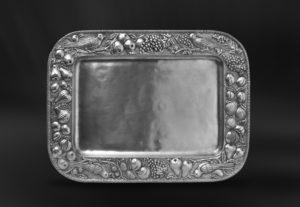 Rechteckiges Tablett aus Zinn - Rechteckiges Zinntablett (Art.537)