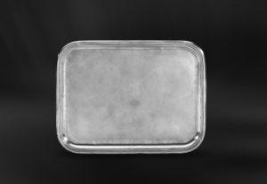 Rechteckiges Tablett aus Zinn - Rechteckiges Zinntablett (Art.567)