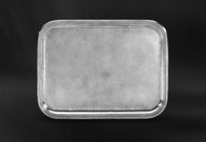 Großes Rechteckiges Tablett aus Zinn - Rechteckiges Zinntablett (Art.569)
