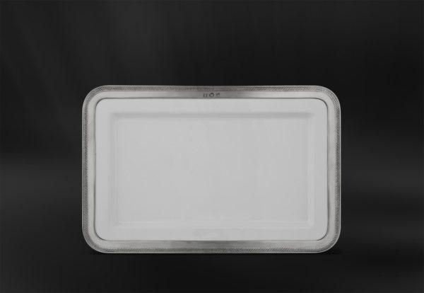 Rechteckiges Tablett aus Keramik und Zinn (Art.876)