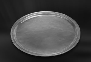 Rundes Tablett aus Zinn - Rundes Zinntablett (Art.168)
