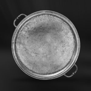 Rundes Tablett aus Zinn mit Henkeln - Rundes Zinntablett mit Henkeln (Art.360)