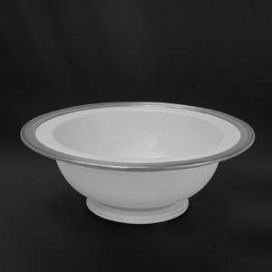 Schale aus Keramik und Zinn - Tafelaufsatz Keramik Zinn (Art.859)