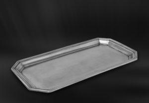 Tablett aus Zinn für Servietten - Badaccessoire aus Zinn (Art.801)