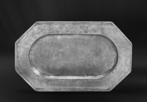 Achteckiges Tablett aus Zinn - Achteckiges Zinntablett (Art.283)