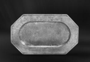 Achteckiges Tablett aus Zinn - Achteckiges Zinntablett (Art.284)